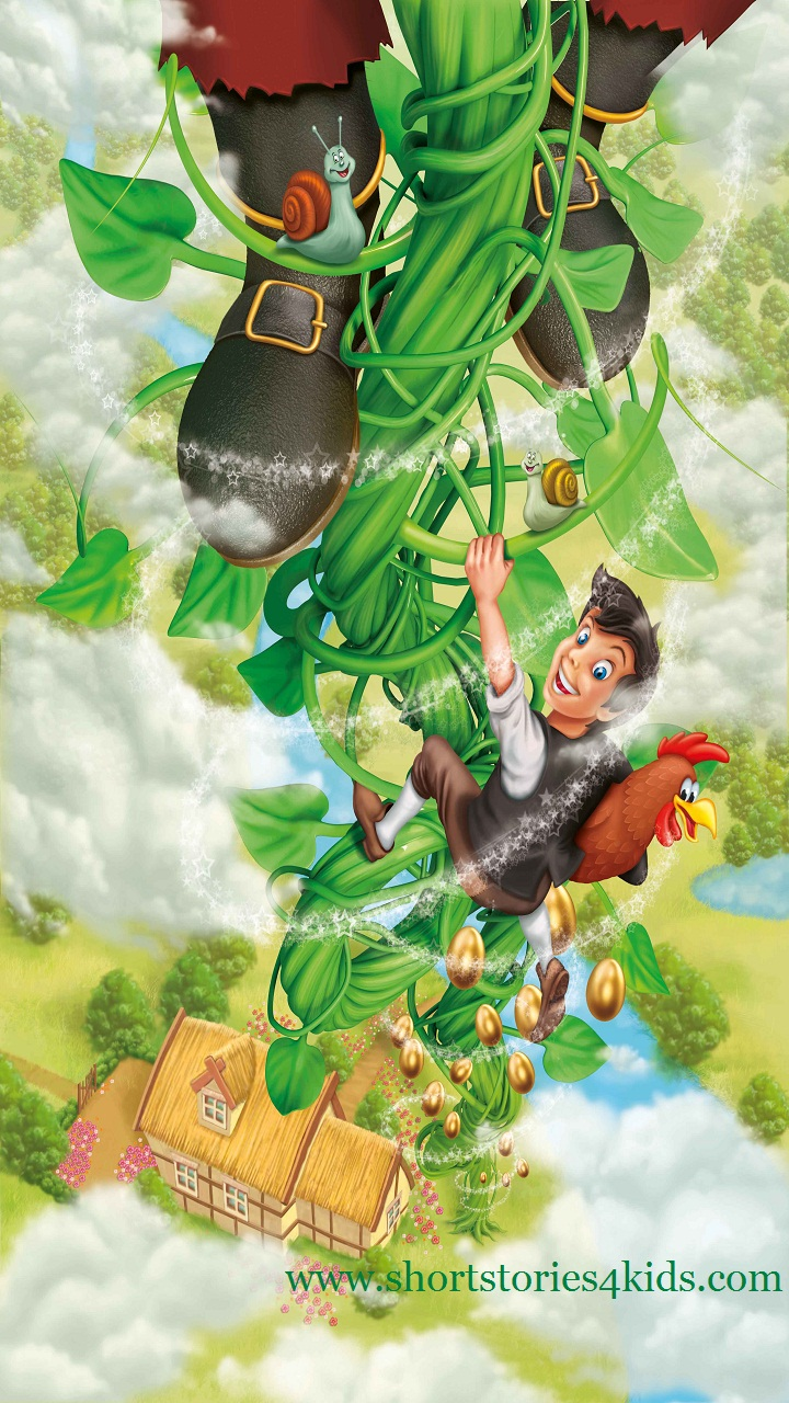 The beanstalk mother pictures Jack and angry