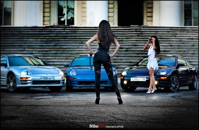 Mitsubishi Eclipse 3G, D50, dziewczyny z samochodami, laski, panny, auta