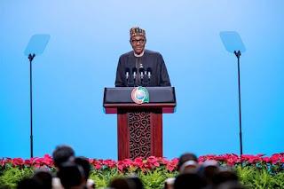 President Buhari Giving Speech At China