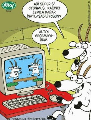 sütaş karikatürleri keçiler kaçıncı levele kadar inatlaşabiliyorsun abi