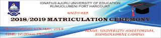 IAUE 10th Matriculation Ceremony Date for Freshmen 2018/2019
