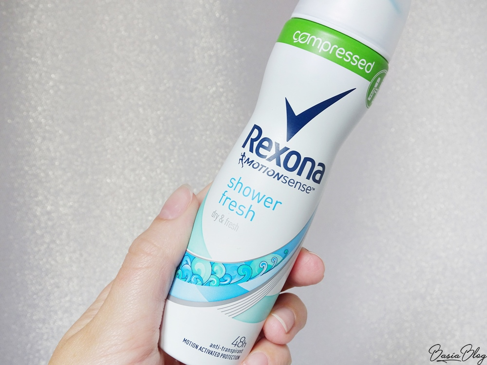 skompresowany antyperspirant w sprayu Rexona compressed shower fresh