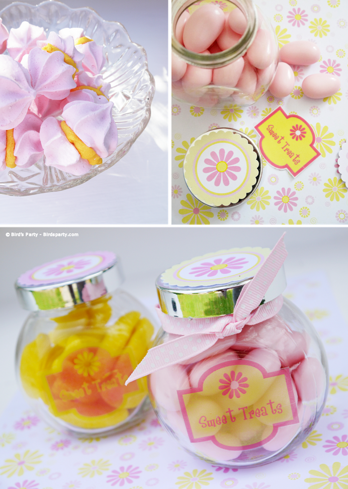 A Pink and Yellow Bridal Shower with Free Party Printables  - BirdsParty.com