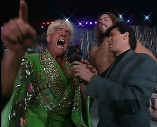 WCW Clash of the Champions XXXI - Eric Bischoff interviews Ric Flair & The Giant