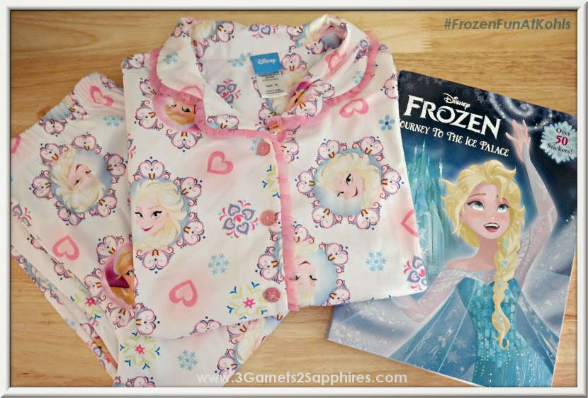 Kohls Disney Frozen Girls Pajamas and Activity Book #FrozenFunAtKohls