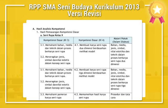 RPP SMA Seni Budaya Kurikulum 2013 Versi Revisi