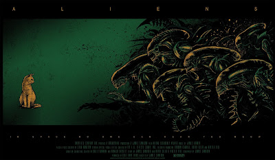 Alien Day 2018 Exclusive Aliens Movie Poster Screen Print by Godmachine x Grey Matter Art x Acme Archives x Dark Ink Art