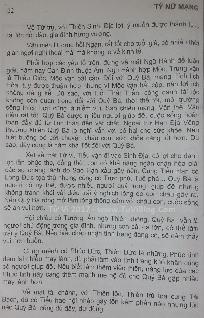 Tu Vi Mau Ty 1948 Nu Mang