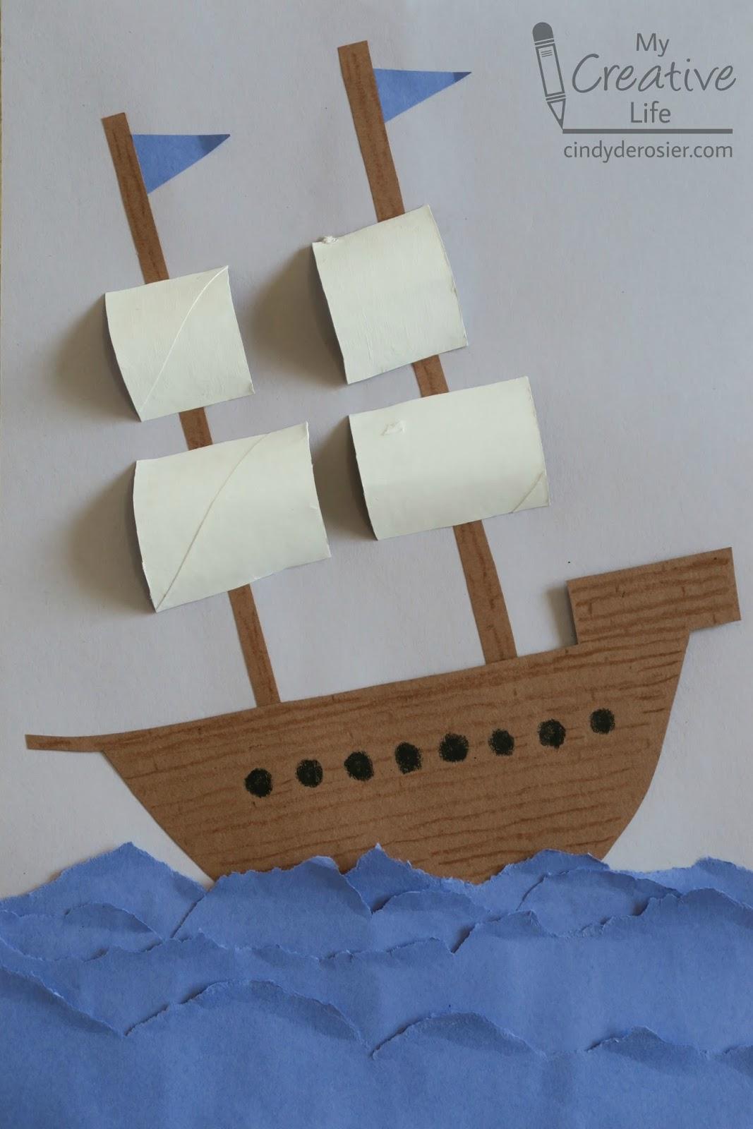 Cindy Derosier My Creative Life Explorer Ship Craft
