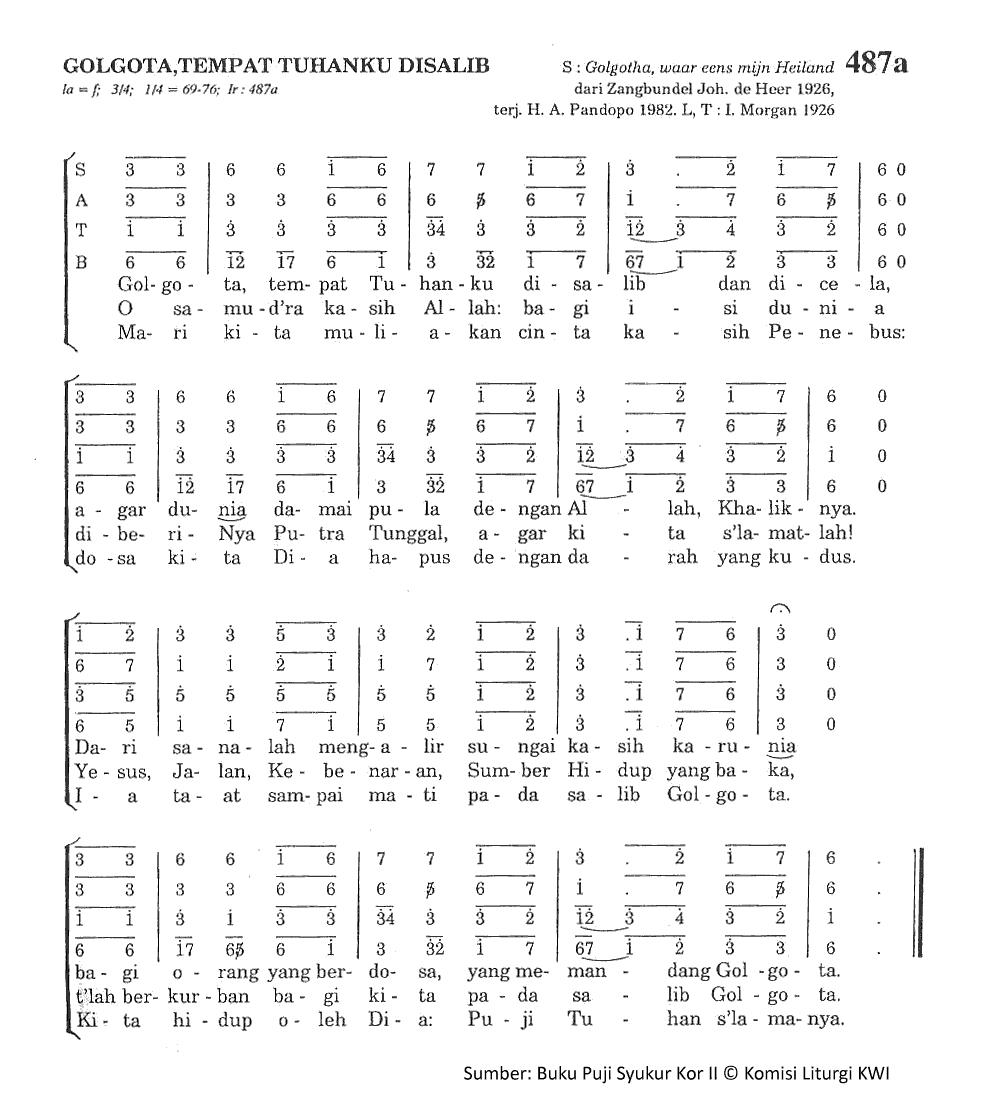Chord Gitar Lagu Rohani Dia Raja: Lirik Dan Chord Lagu Golgota Tempat Tuhanku Disalib