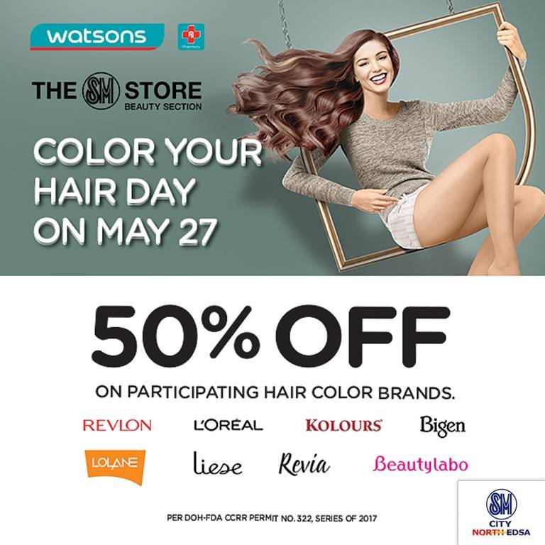 Watsons Color Your Hair Day Promo May 27 2017 Pamurahan Your