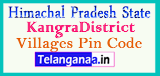 Kangra District Pin Codes in Himachal Pradesh State
