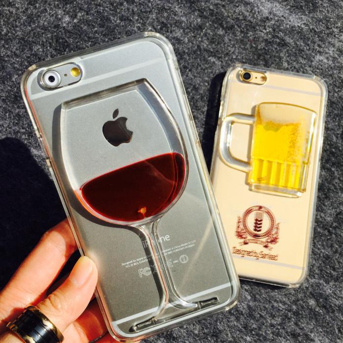 Coque Iphone  Verre De Vin