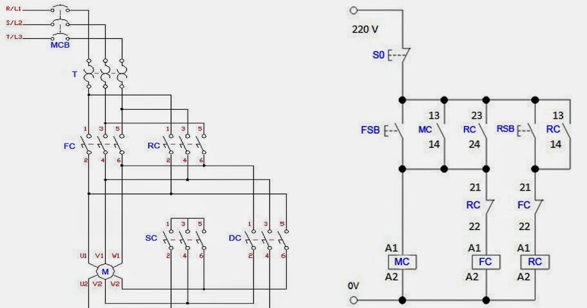 circuit diagram forward reverse motor control