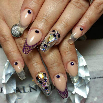 Halloween Diamond, Mylar Nails Art Ideas