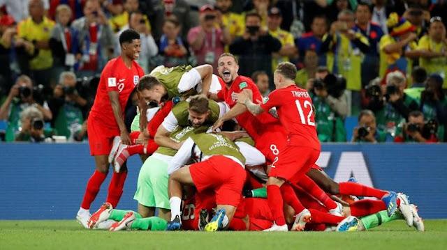 Piala Dunia 2018: Kalahkan Kolombia lewat Adu Penalti, Inggris ke Perempatfinal