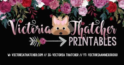 Victoria Thatcher Printables