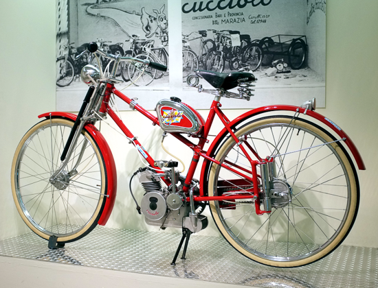 Ducati Cucciolo bicycle at the Ducati Museum