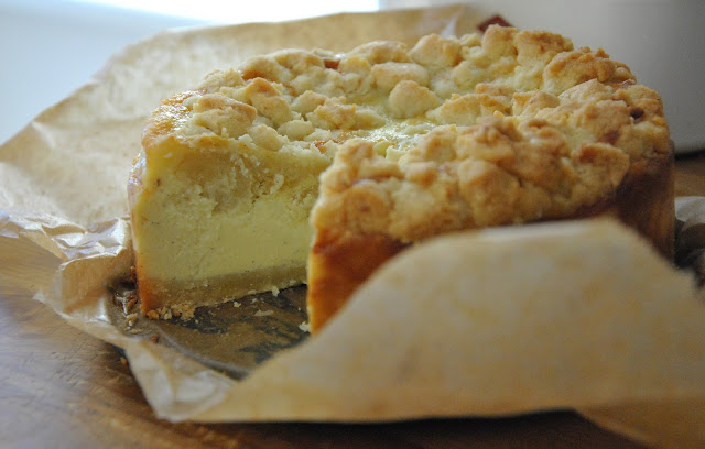 Angeschnitten: Mandel Mascarpone Cheesecake