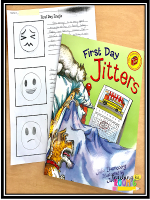 Using the picture book First Day Jitters in fifth grade