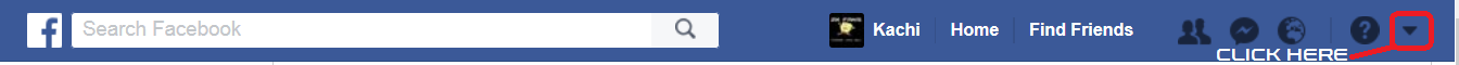 Facebook Navigation Menu