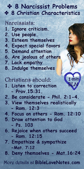 8 Narcissist Problems - and Christian responses