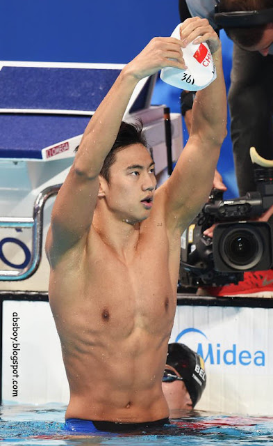muscular chinese athlete on rio 2016 ning zetao