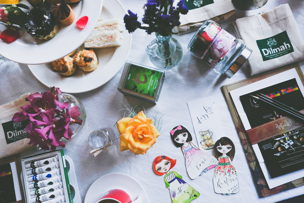 Art Meets Tea, cebu watercolor workshop, cebu calligraphy workshop, summer workshops, 2016, radisson blu cebu, cebu lifestyle blogger, cebu fashion blogger, cebu blogger, calligrapers, artists, freeform flowers watercolor workshop, dr. nanette catigbe,
