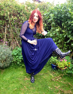 Síomha Debs in wellies