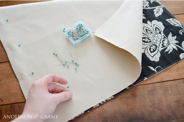 Pinning fabric for pillow