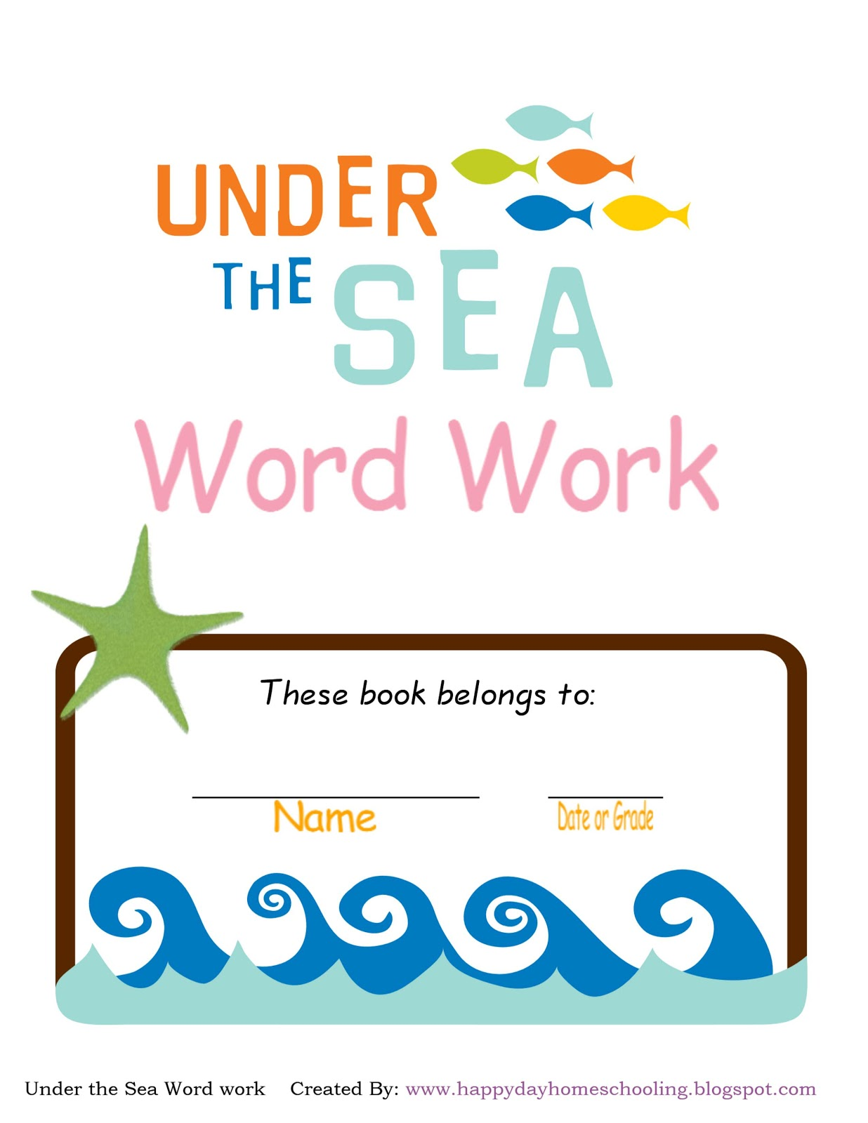 Happy Day Homeschooling Word Work Freebies