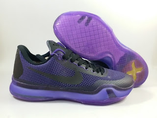 Nike Kobe 10 BLACKOUT Purple Black  Jual Sepatu Basket Replika Import Premium