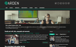 arden blogger template free