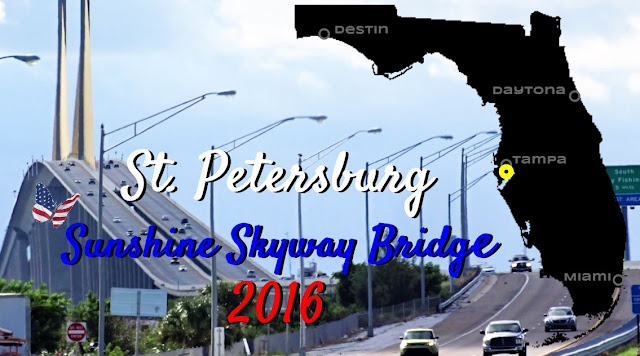 St Petersburg Sunshine Skyway Bridge 2016, Florida USA