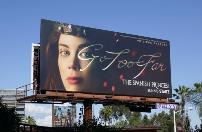 Spanish Princess Starz billboard