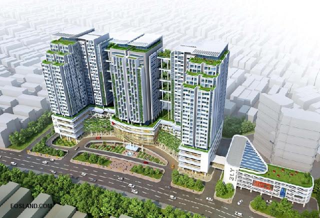 Phối cảnh tổng quan dự án chung cư Sun Grand City số 3 Lương Yên