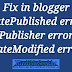 Date modified (publish date) structured data error fix kaise kare.