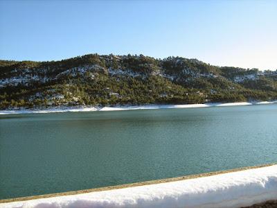 clima, Beceite, nieve, frío, nevada, está nevando, Beseit, neu, muro, pantano de Pena