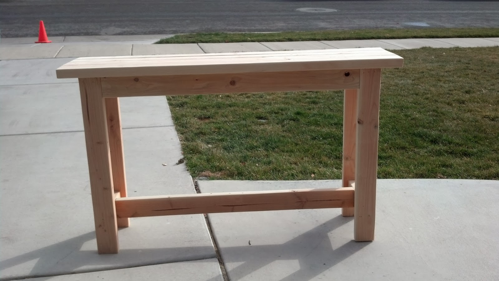 rustic nail simple sofa table 150 00 finished 120 00 unfinished rh rusticnail blogspot com simple diy sofa tables Pallet Sofa Table