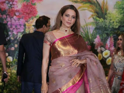 kangana-arrives-in-sonam-reception