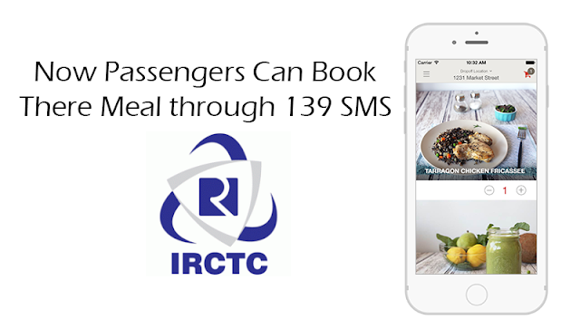 Now Passengers Can Book there Meal through 139 SMS