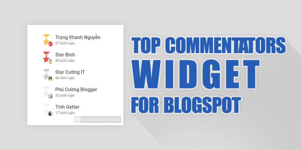 Tạo widget Top những người bình luận nhiều nhất tuần cho Blogspot