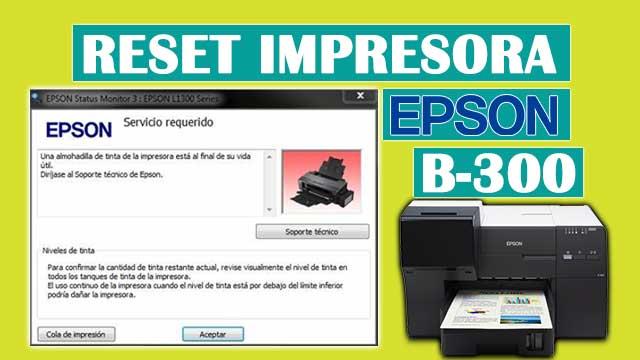 Reset almohadillas de la impresora EPSON B-300