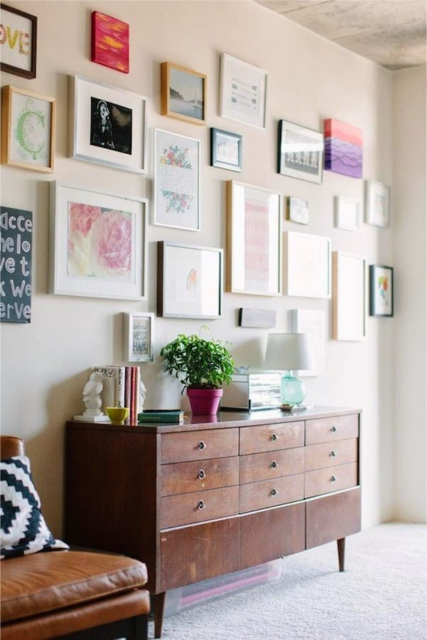 the closet confessional gallery wall inspiration. Black Bedroom Furniture Sets. Home Design Ideas