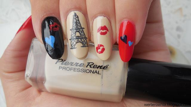 Wieża Eiffla na paznokciach