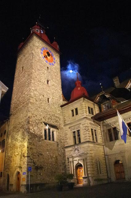 Lucerne Switzerland Church Night