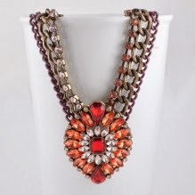 Anna Karenina in Red necklace from Astrid & Miyu - £39