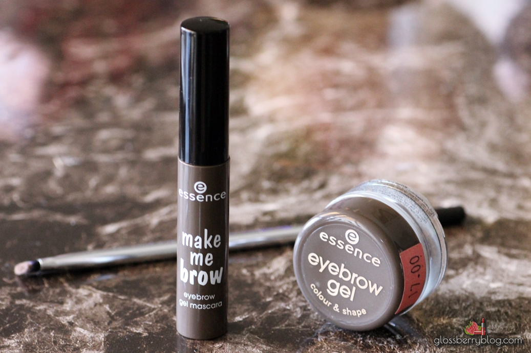 Essence - Make Me Brow Mascara and Brow Gel review swatches ג'ל מסקרה גבות אסנס חום סקירה המלצה גלוסברי בלוג איפור וטיפוח