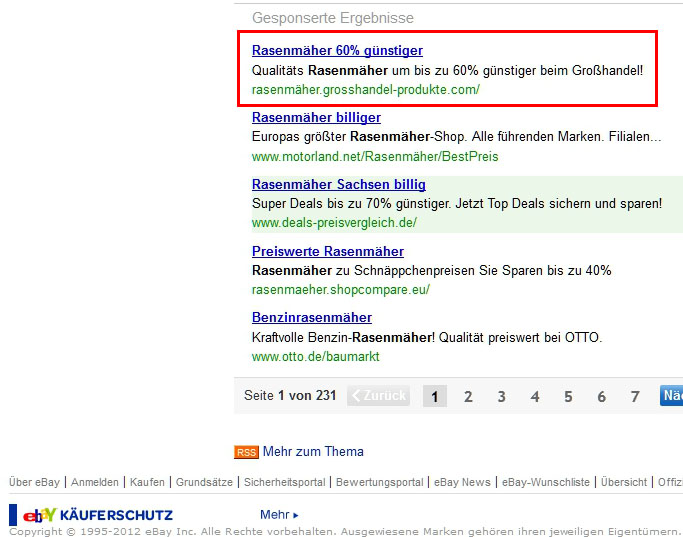 ebay deutschland rasenmäher