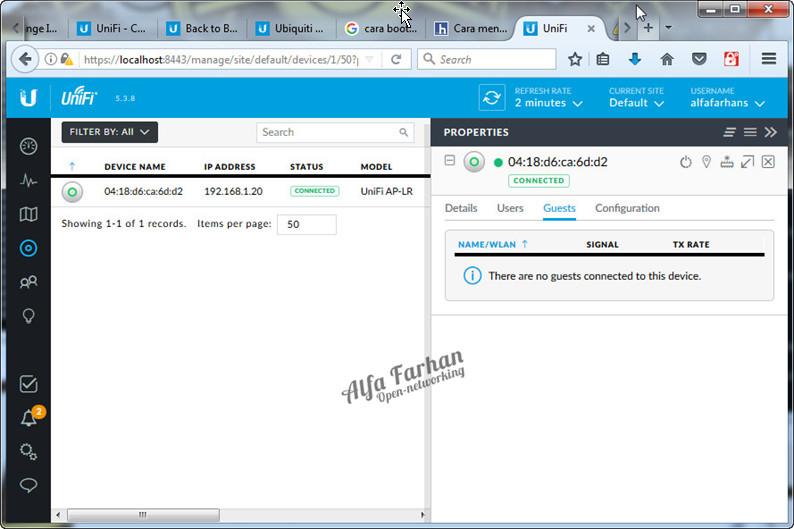 Upgrade Unifi Firmware ~ Open Networking
